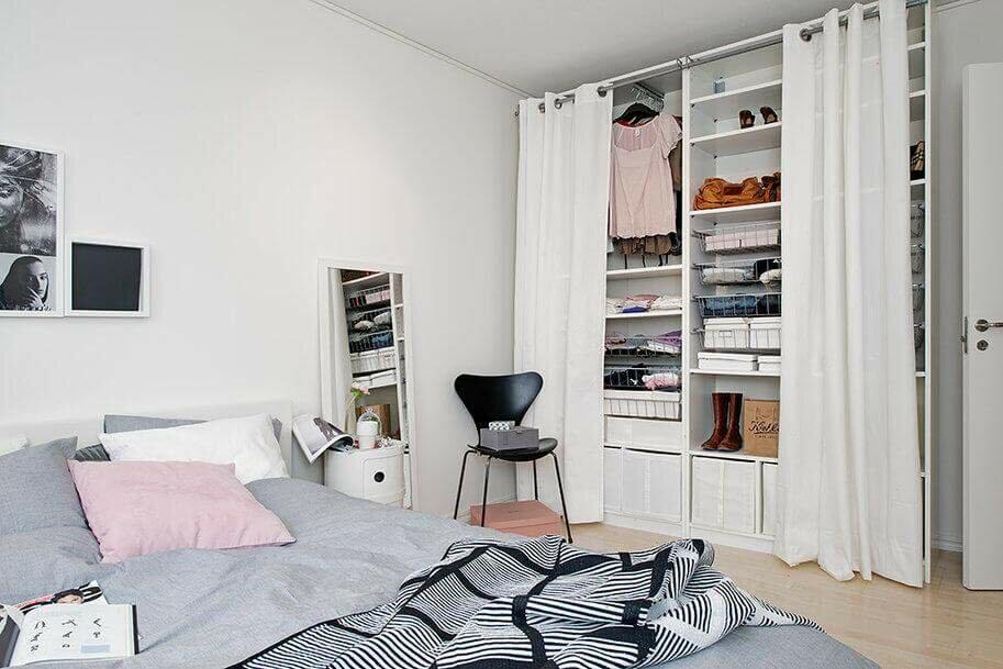 Гардероб в маленькій спальні: як облаштувати