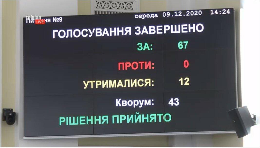 Скрин: Прямая трансляция сессии горсовета