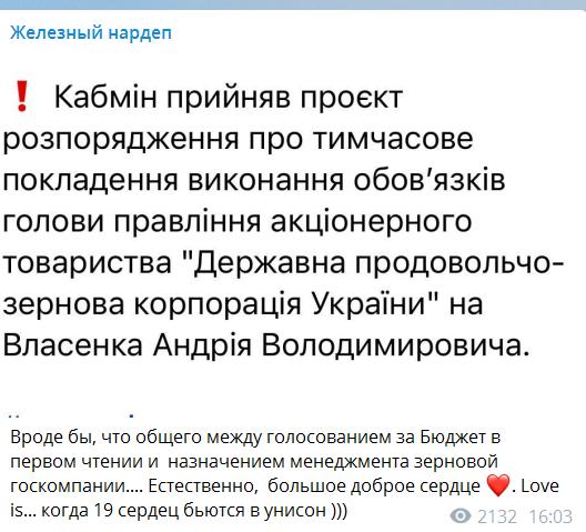 """Железняк обвинил """"Батьківщину"""" в корыстном голосовании за бюджет на 2021 год"""