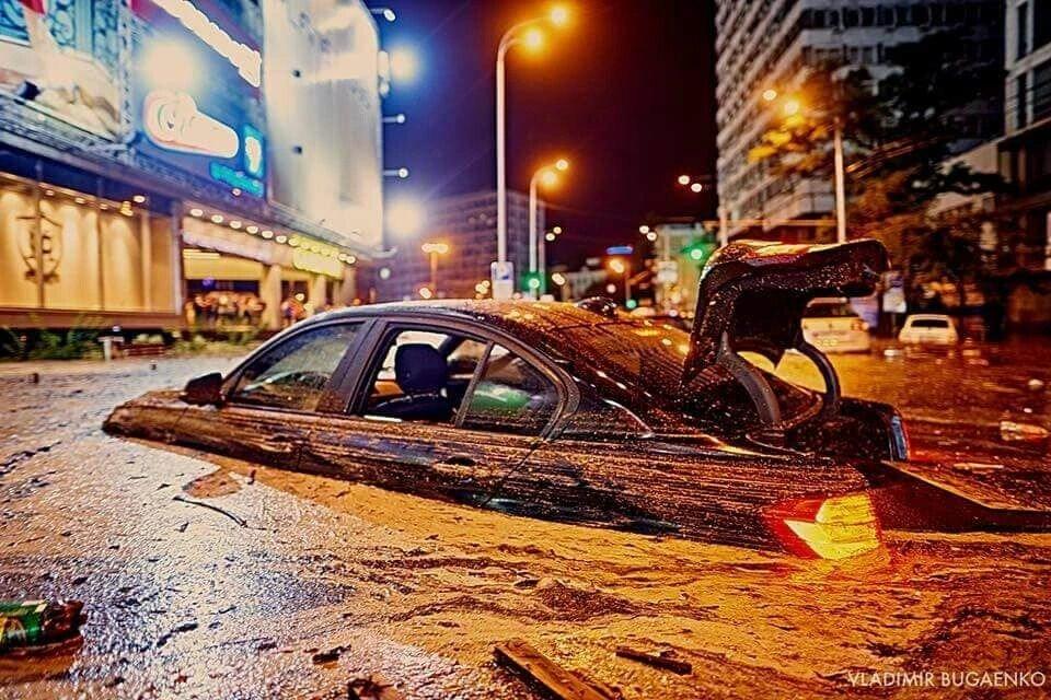 """Потоп в 2018 году возле """"Гулливера"""""""