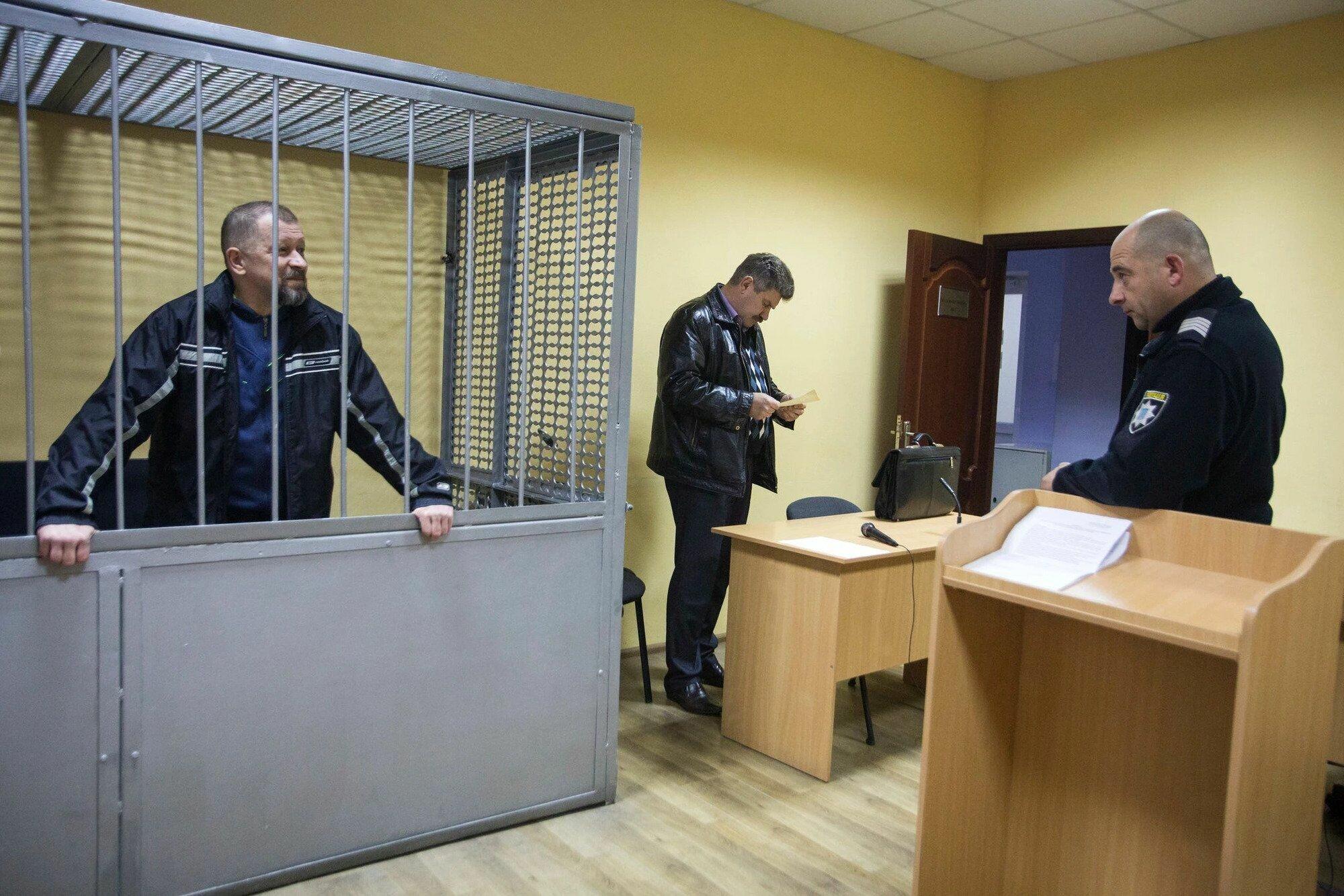 Киллер Олег Смородинов в суде.