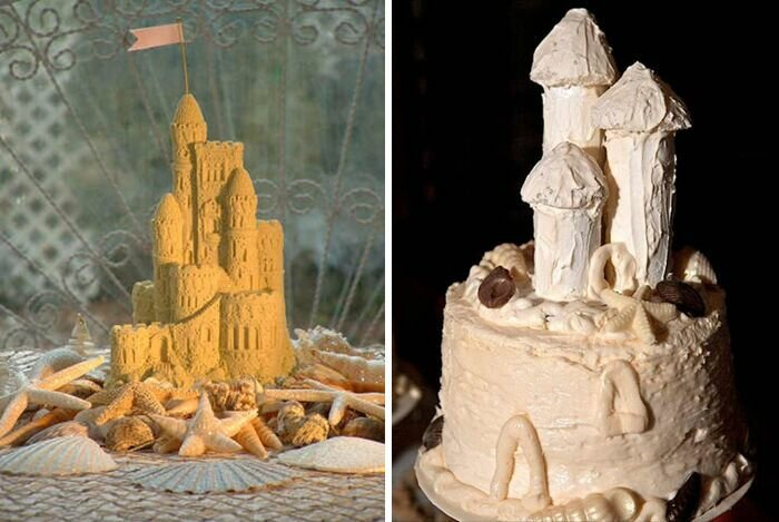 Торт должен быть в форме королевского замка.
