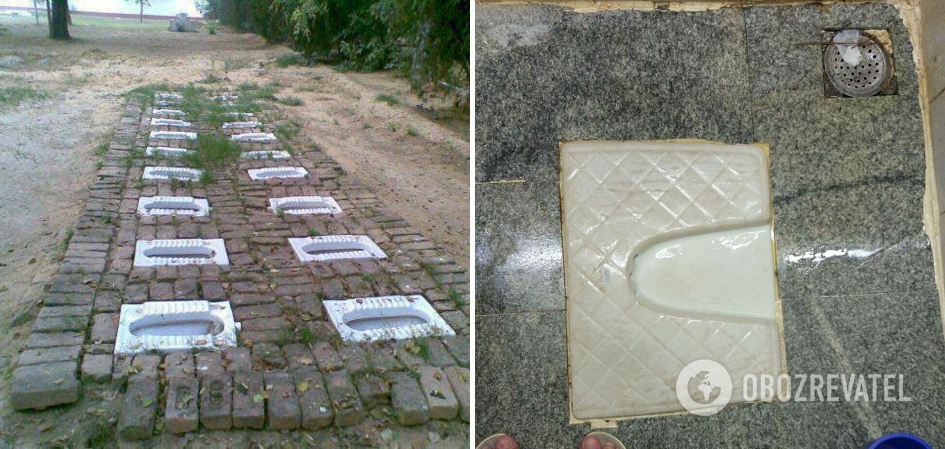 Индийские туалеты удивляют иностранных туристов.