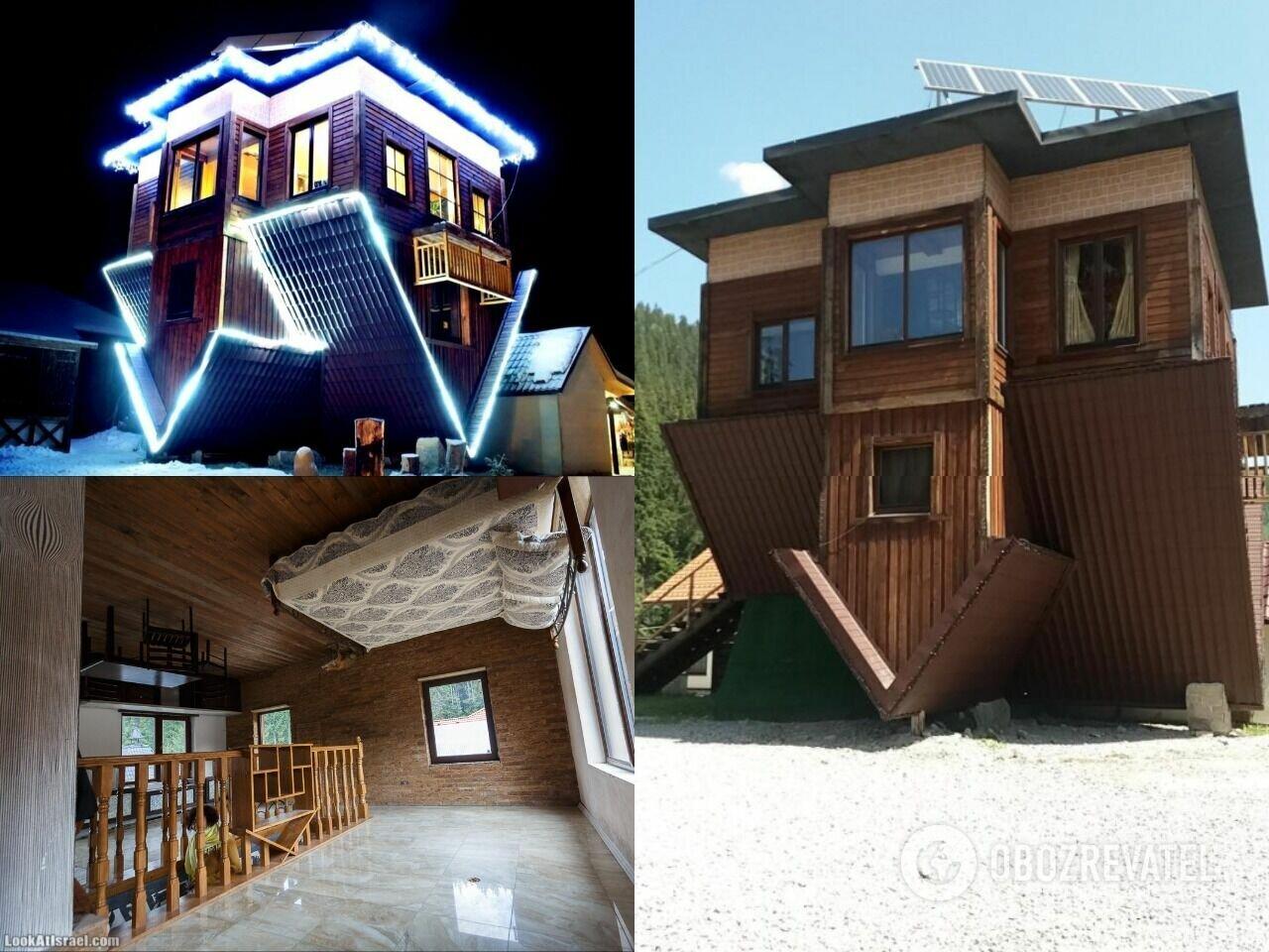 В этом необычном доме мебель прикручена к потолку