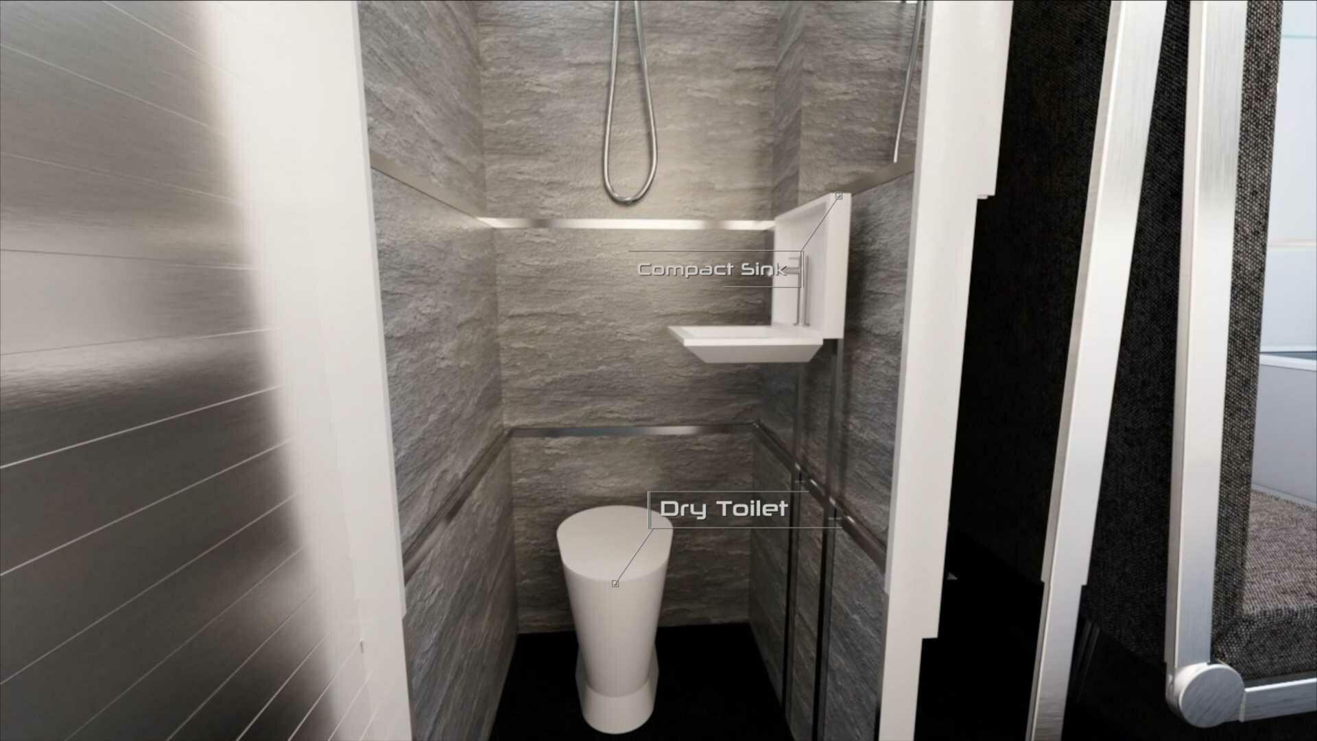 Ванная комната с туалетом и душем