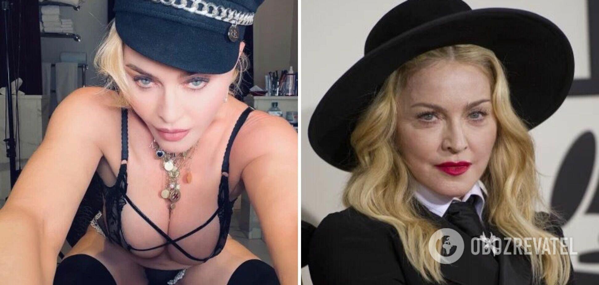 В соцсетях Мадонна иногда предстает в очень откровенных образах