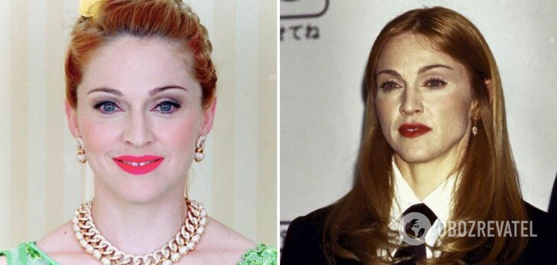 Мадонна несколько лет была с рыжим цветом волос