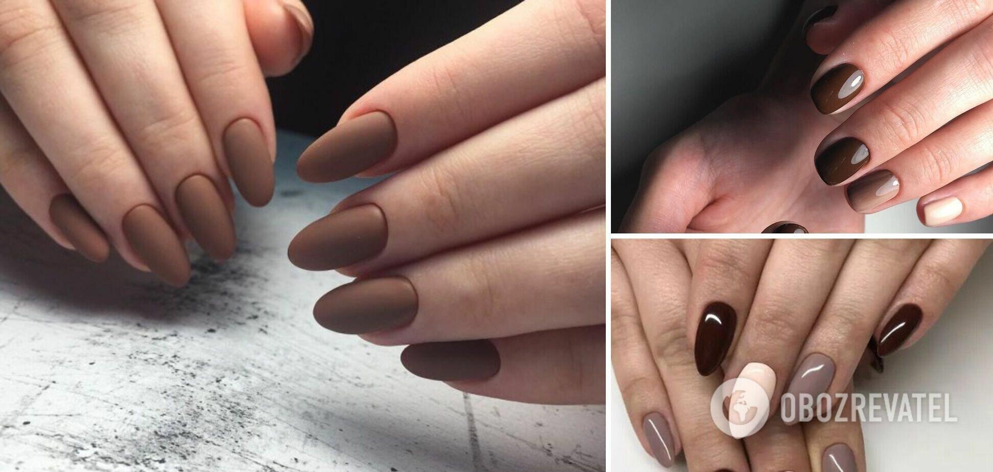 Также коричневый оттенок хорошо сочетается с базовыми оттенками