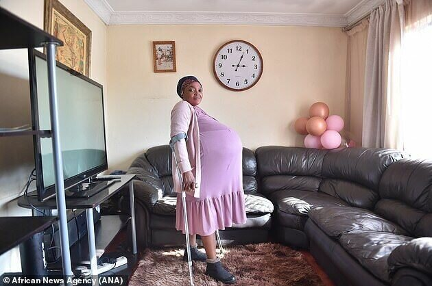 Госиаме Тамара Ситхоле во время беременности
