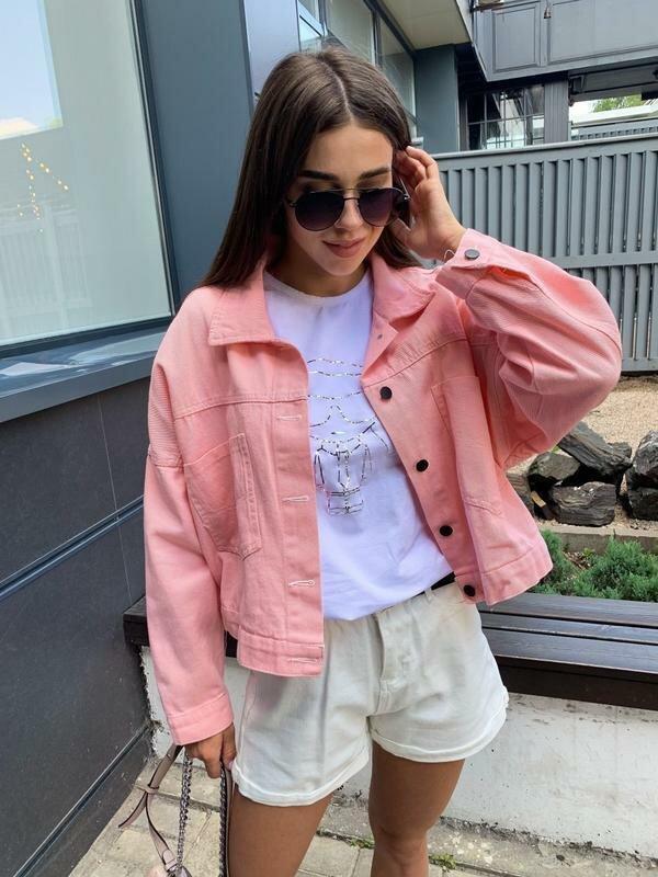 Цветная джинсовая куртка