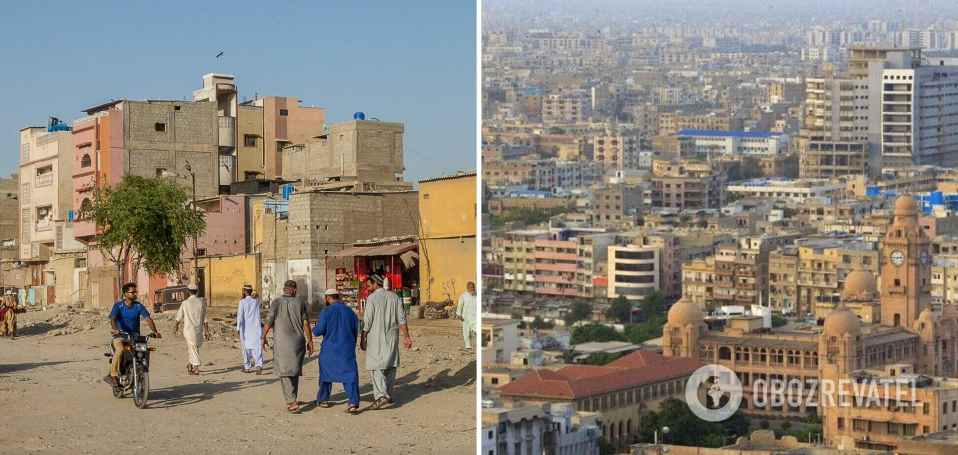 Карачи находится на юге Пакистана.