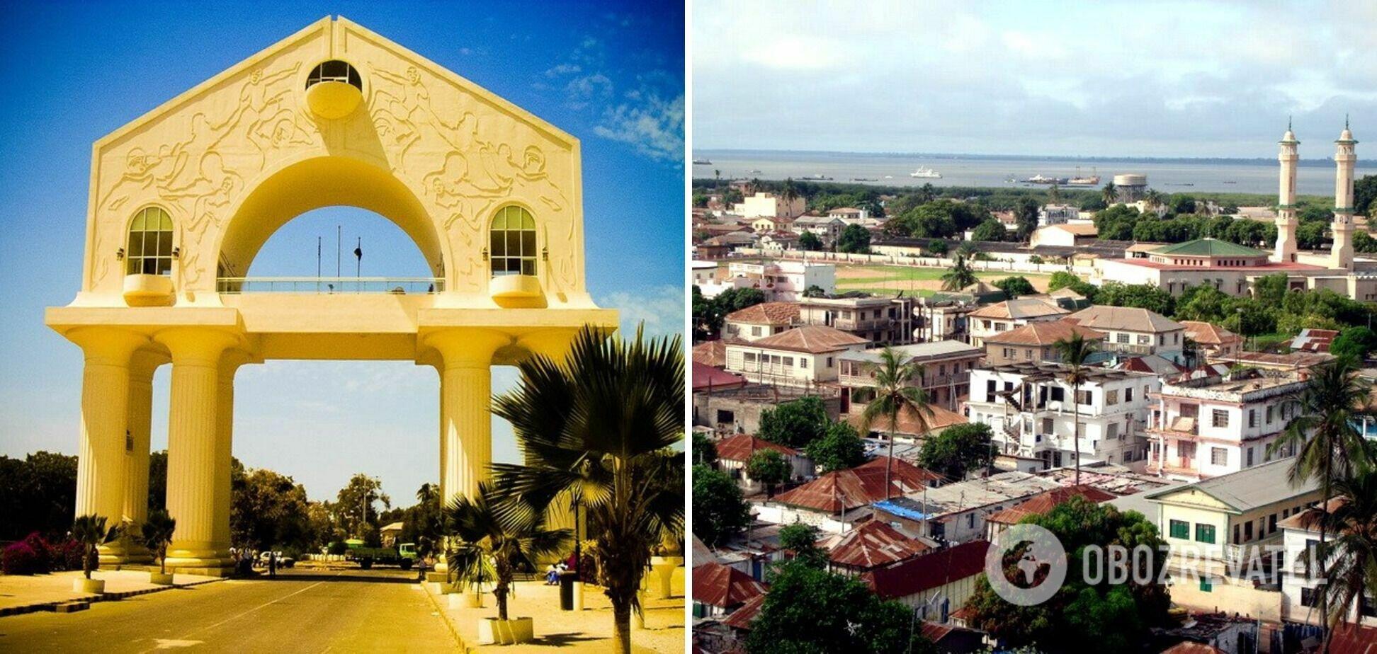 Банжул расположен на западе Африки.