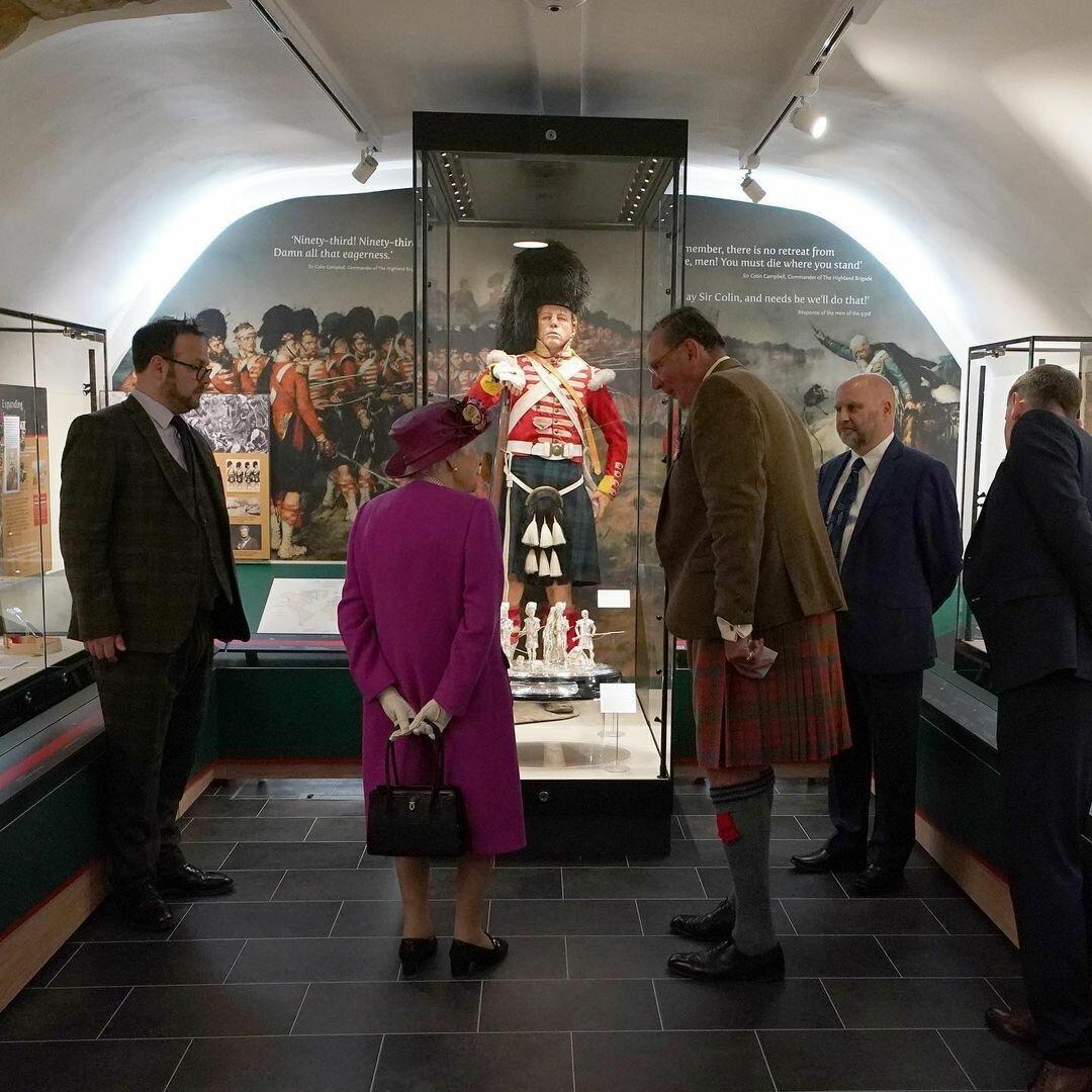 Королева посетила музей