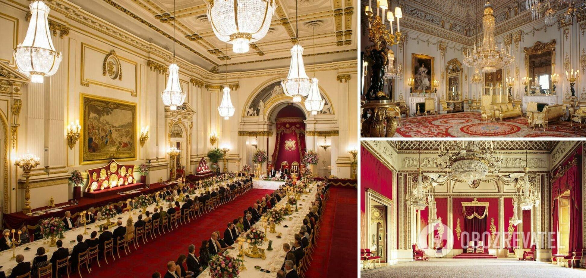 Всем известный Букингемский дворец, в котором проживает королева Елизавета
