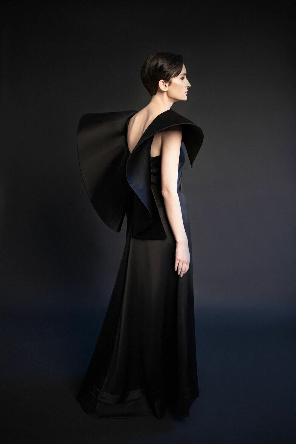 Павленко позировала в длинном платье с объемными рукавами