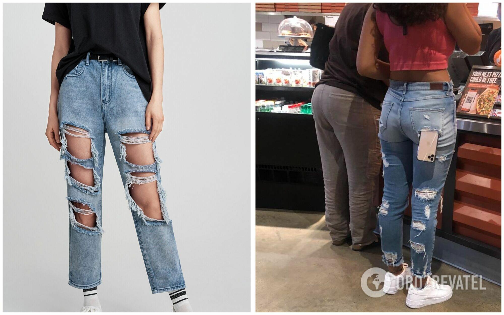 Рваные джинсы уже давно вышли из моды