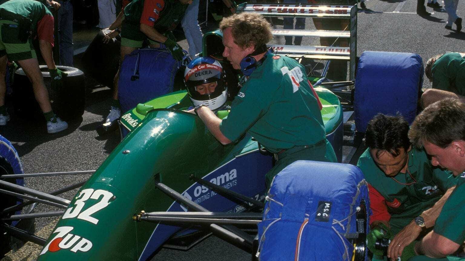 Михаэль Шумахер за рулем Jordan 191