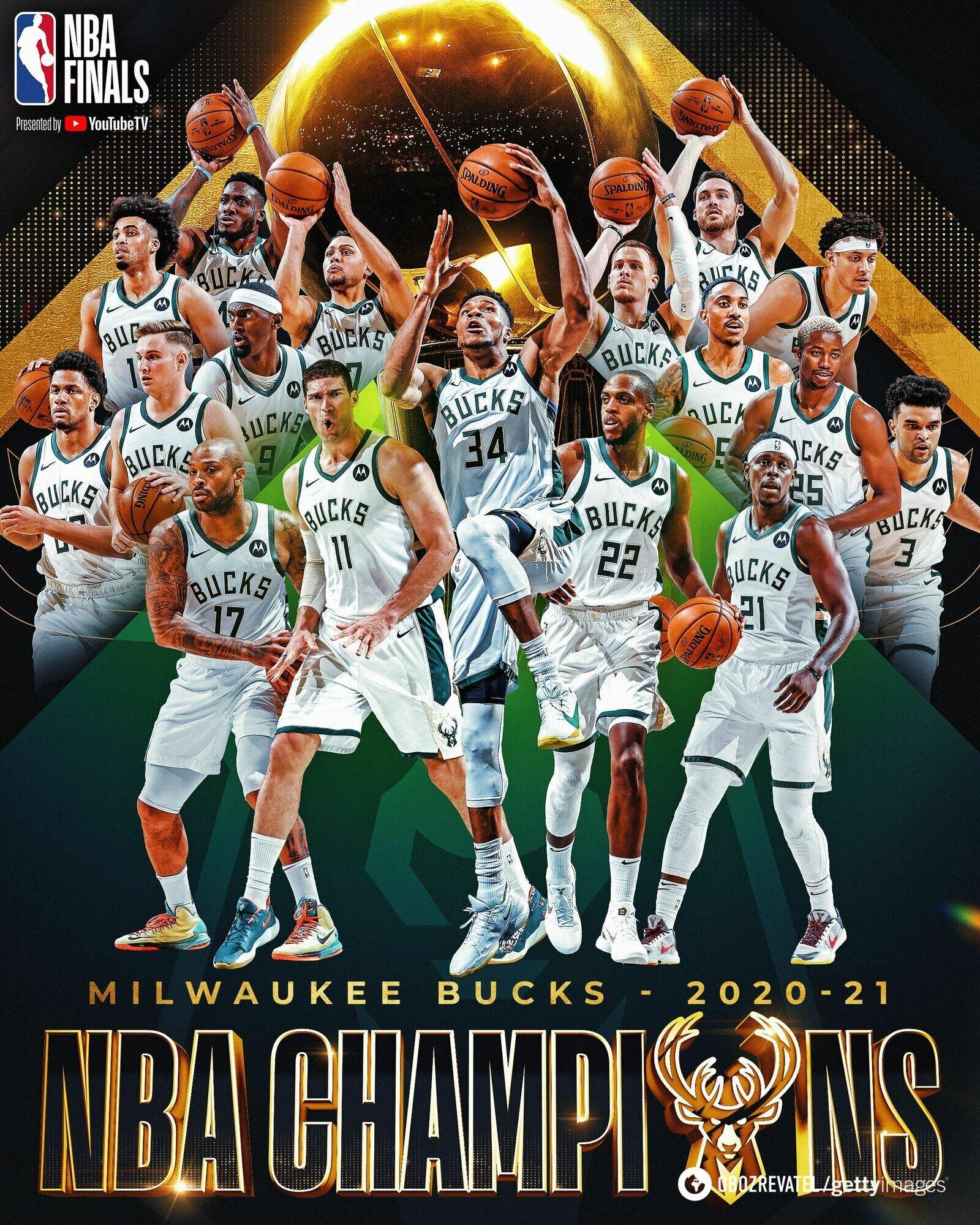 """""""Милуоки"""" выиграл НБА впервые за 50 лет"""