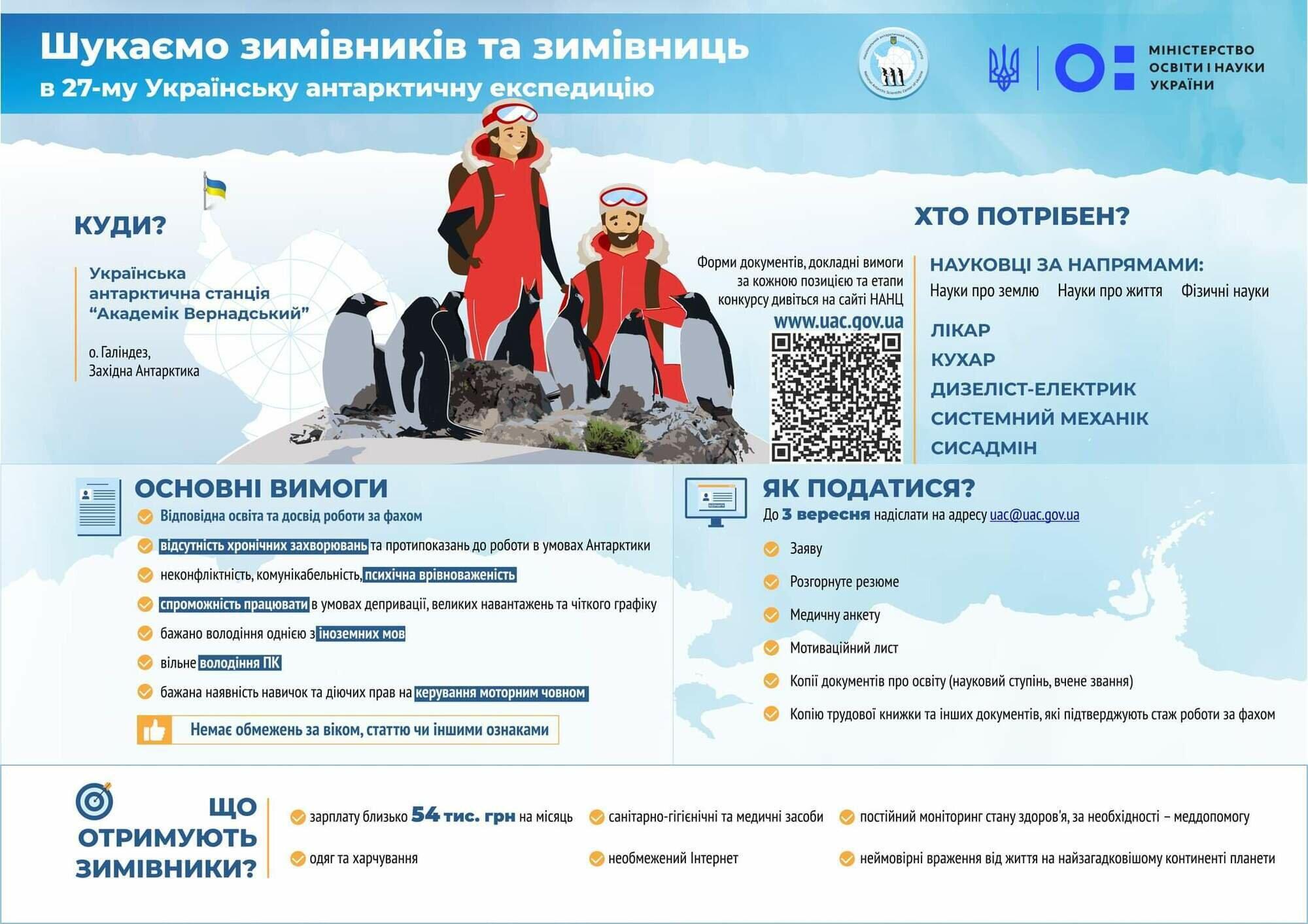 В Украине ищут полярников для антарктической экспедиции