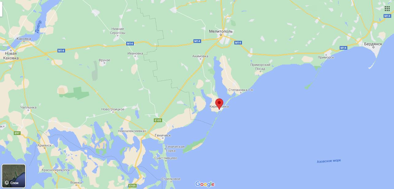 Кирилловка на карте