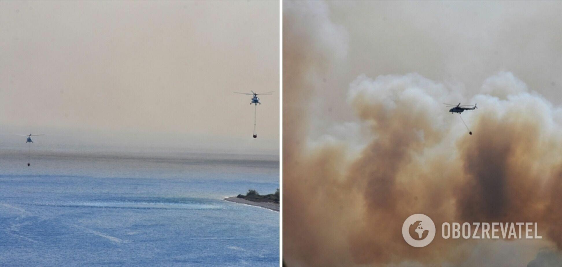 Тушение пожаров в Турции