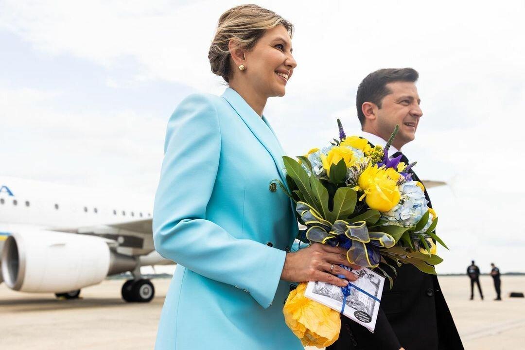 Владимир и Елена Зеленские прибыли в США