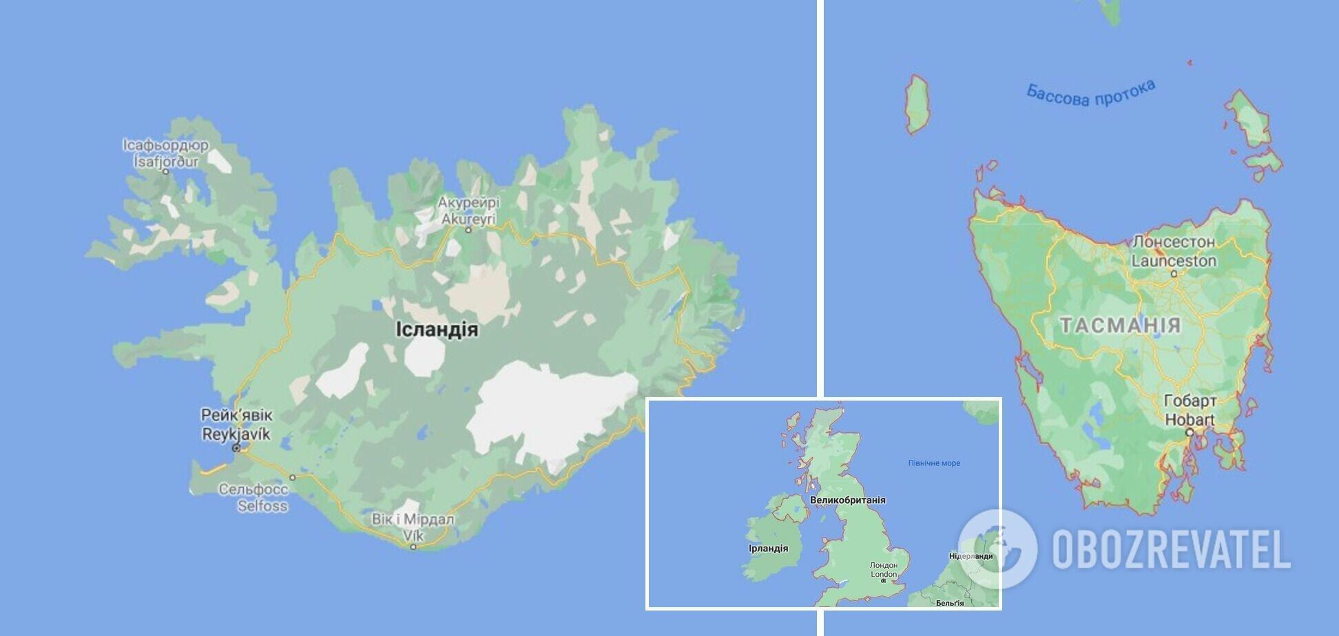 Исландия, Ирландия и Тасмания тоже вошли в список