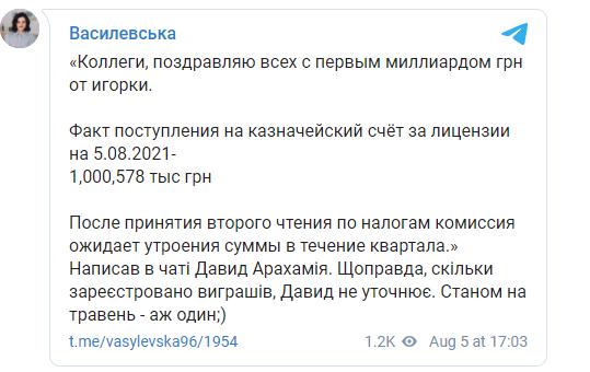 Пост Ольги Василевской-Смаглюк.