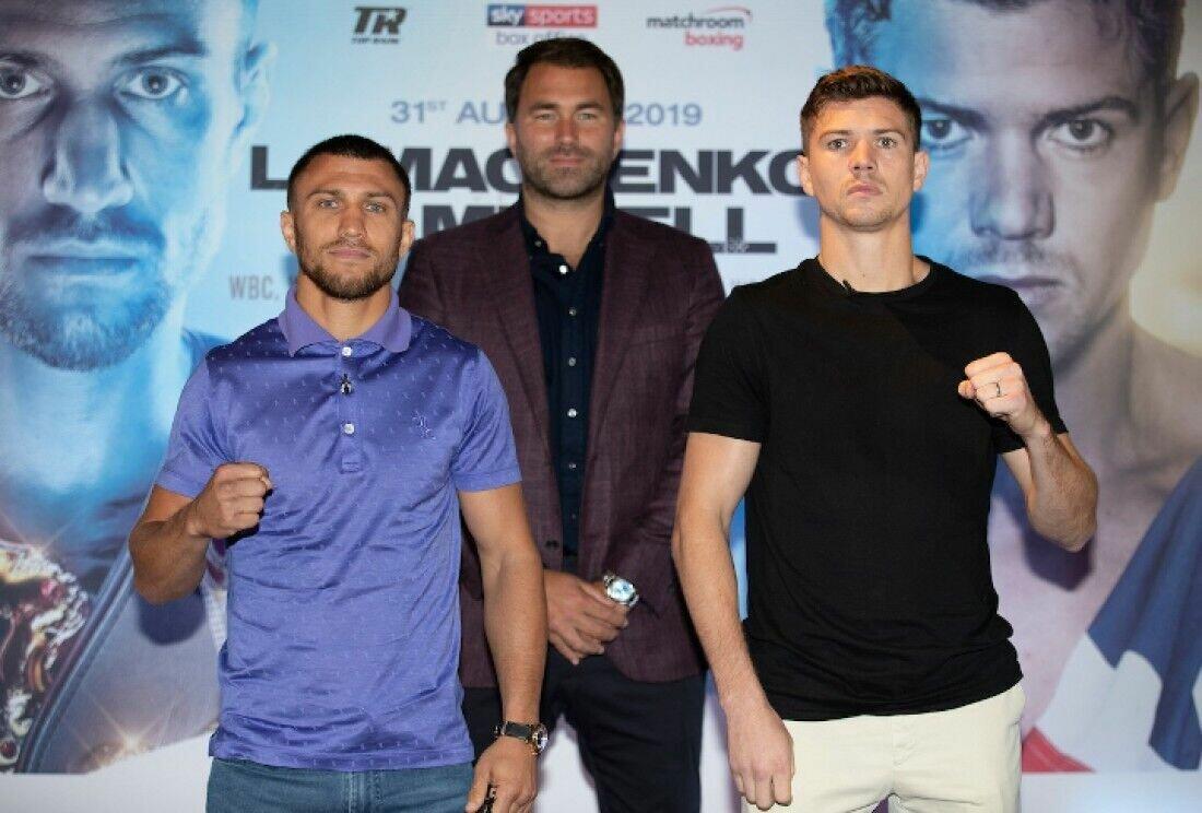 Люк Кэмпбелл (справа) перед боем с Ломаченко.