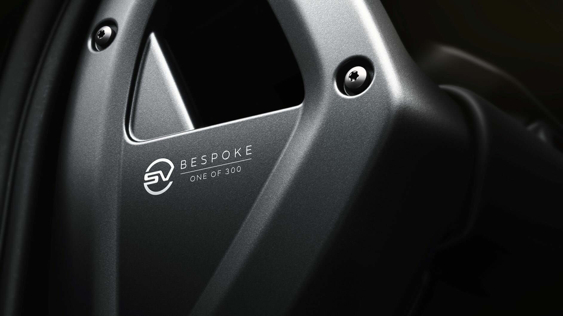 Интерьер версии отличается лазерной маркировкой и логотипом SV Bespoke