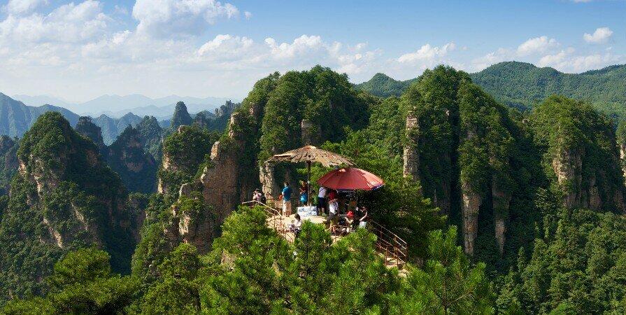 Живописный район Янцзяцзе в национальном лесном парке чжанцзяцзе
