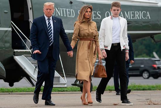 Трамп, Мелания и Бэррон