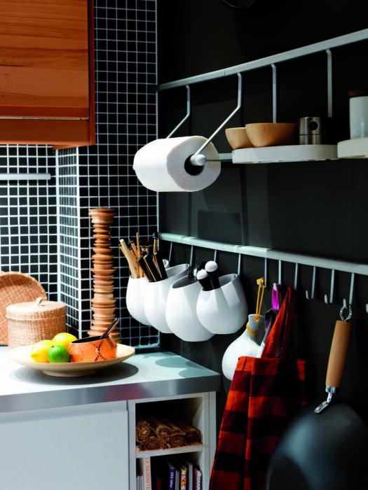Стильное решение для небольшой кухни. /Фото: estag.fimagenes.com