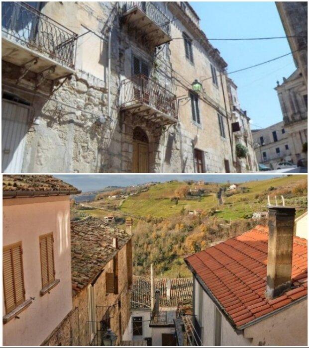 В опустевшем городке Муссомели решили продать за 1 евро более 400 домов (Италия).