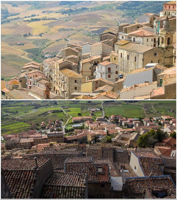 Разрушения старинных домов пытаются остановить с помощью продажи их за 1 евро (Ганджи, Италия).