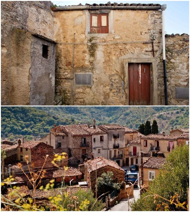 Вот такие колоритные дома ждут новых владельцев – любителей дармовщины (Италия).