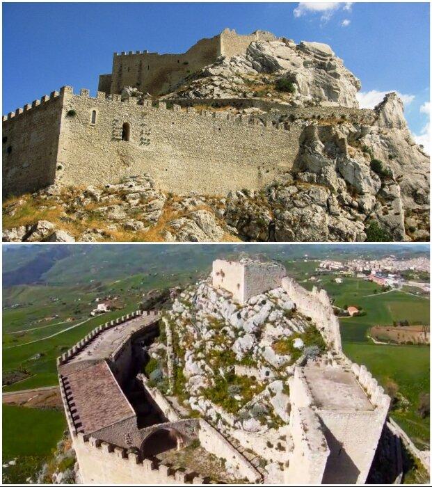 Даже старинные замки могут отдать в частные руки на реконструкцию, но в аренду на 50 лет (Castello di Mussomeli, Италия).