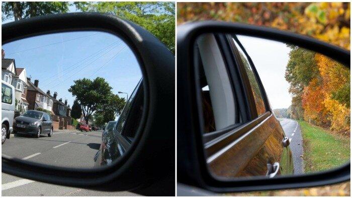 Чтобы избежать появления слепой зоны, боковые зеркала заднего вида следует настроить правильно / Фото: yandex.ua