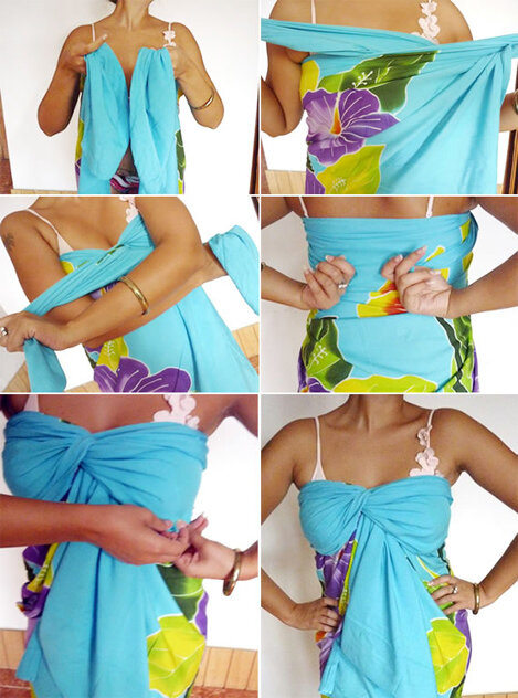 Пляжное платье из парео