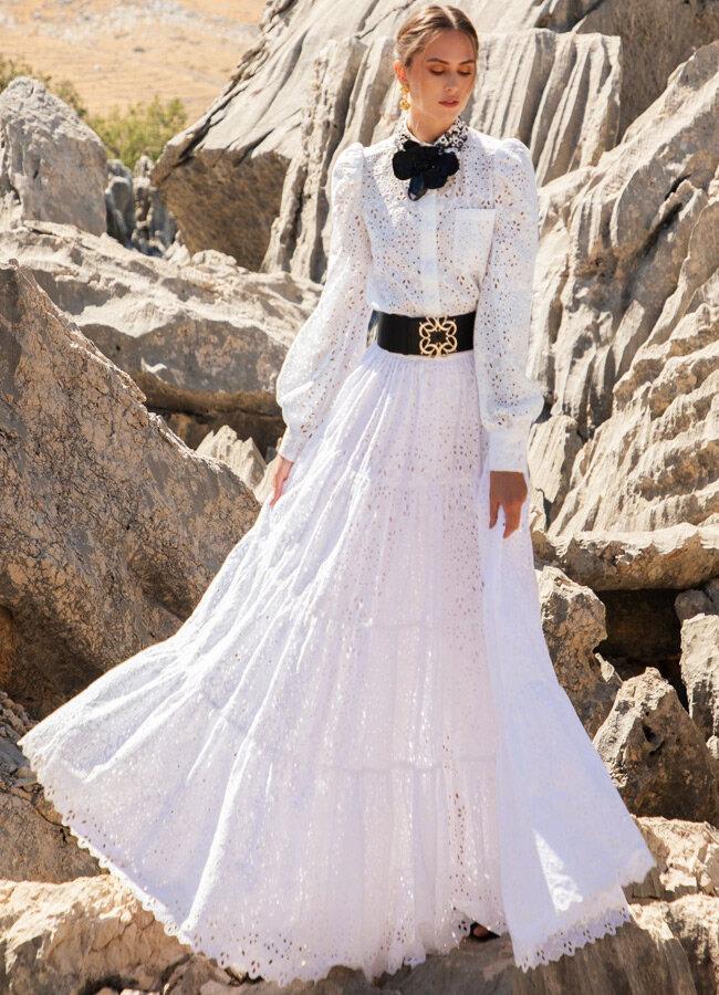 Модное кружевное платье из коллекции Elie Saab