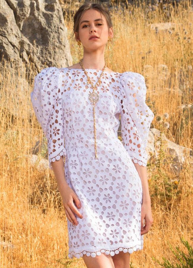 Короткое кружевное платье, фото из коллекции Elie Saab