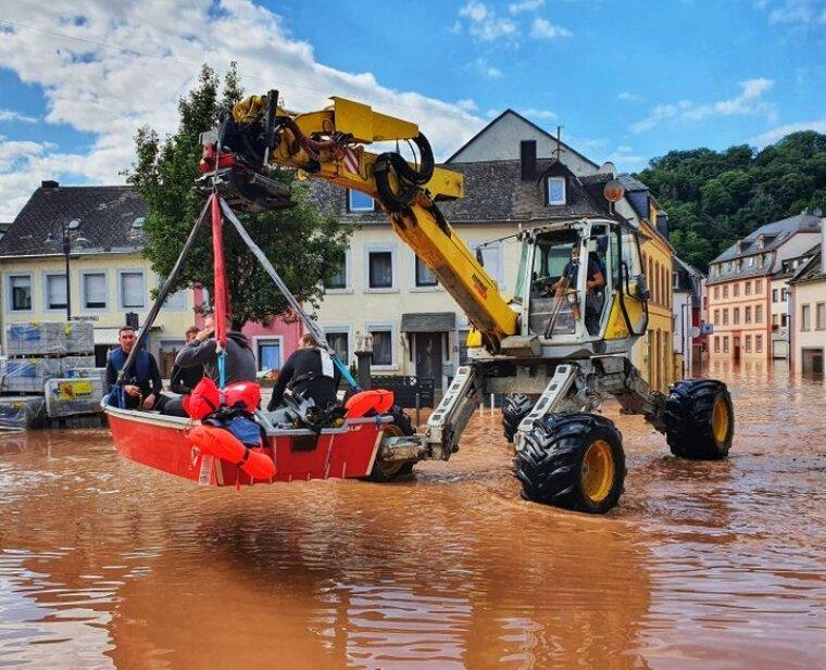 Спасательные работы в Трире (Рейнланд-Пфальц)/dpa