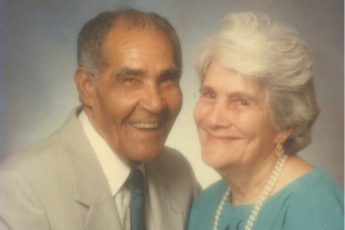 Oldest Living Person with his wife Andrea Perez