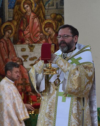 Блаженніший Святослав (Шевчук). Літургія в соборі Непорочного Зачаття у Філадельфії