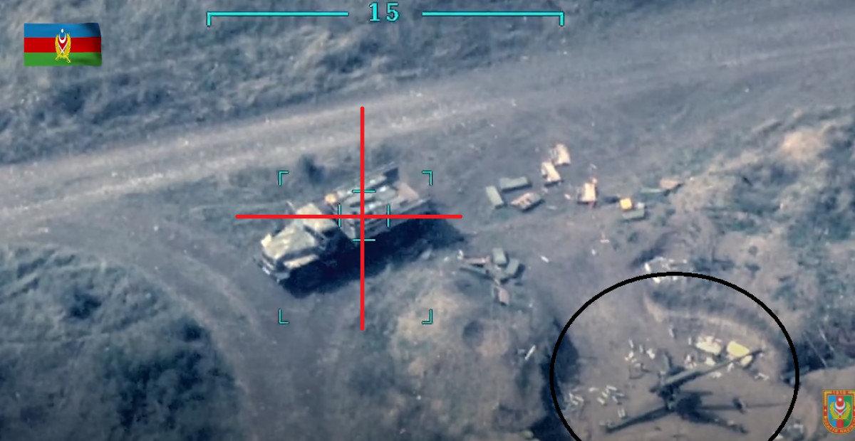 Азербайджан взорвал грузовики Армении с боеприпасами