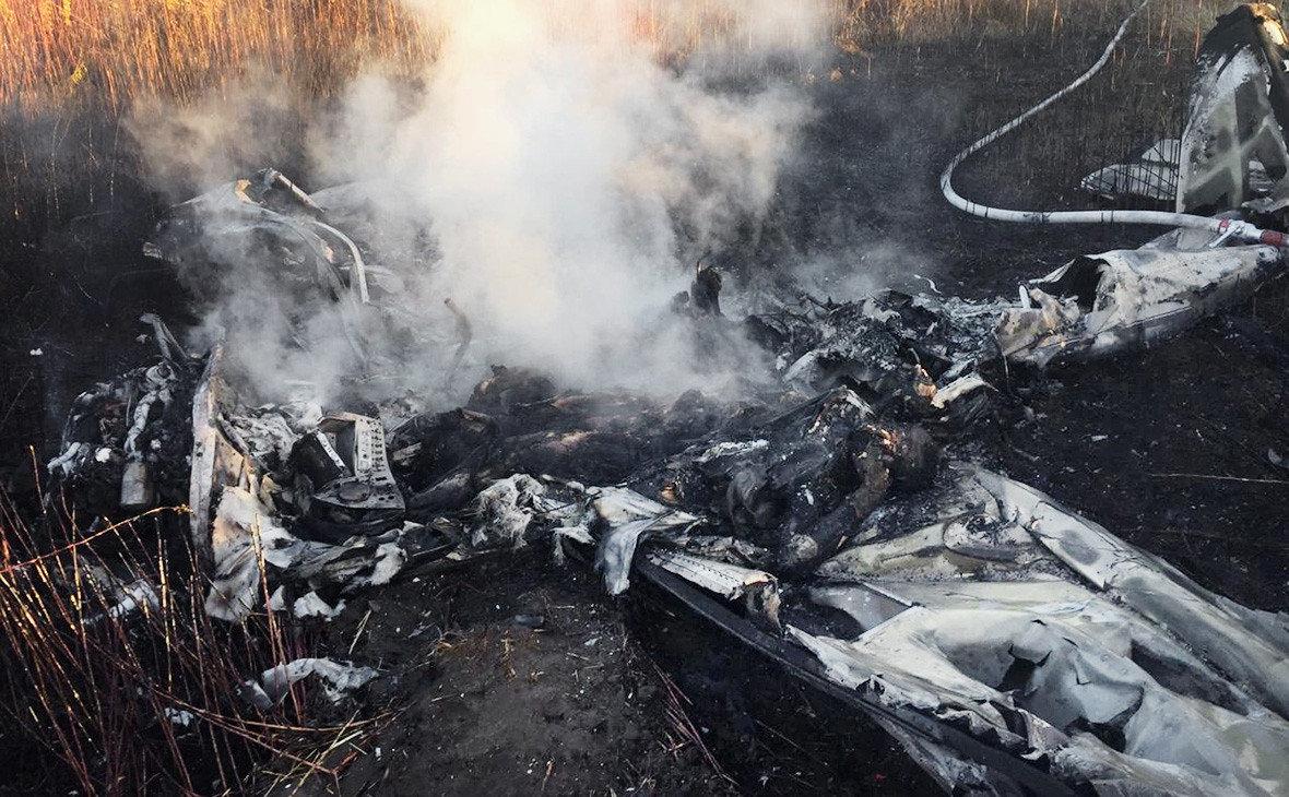 В Подмосковье разбился частный самолет