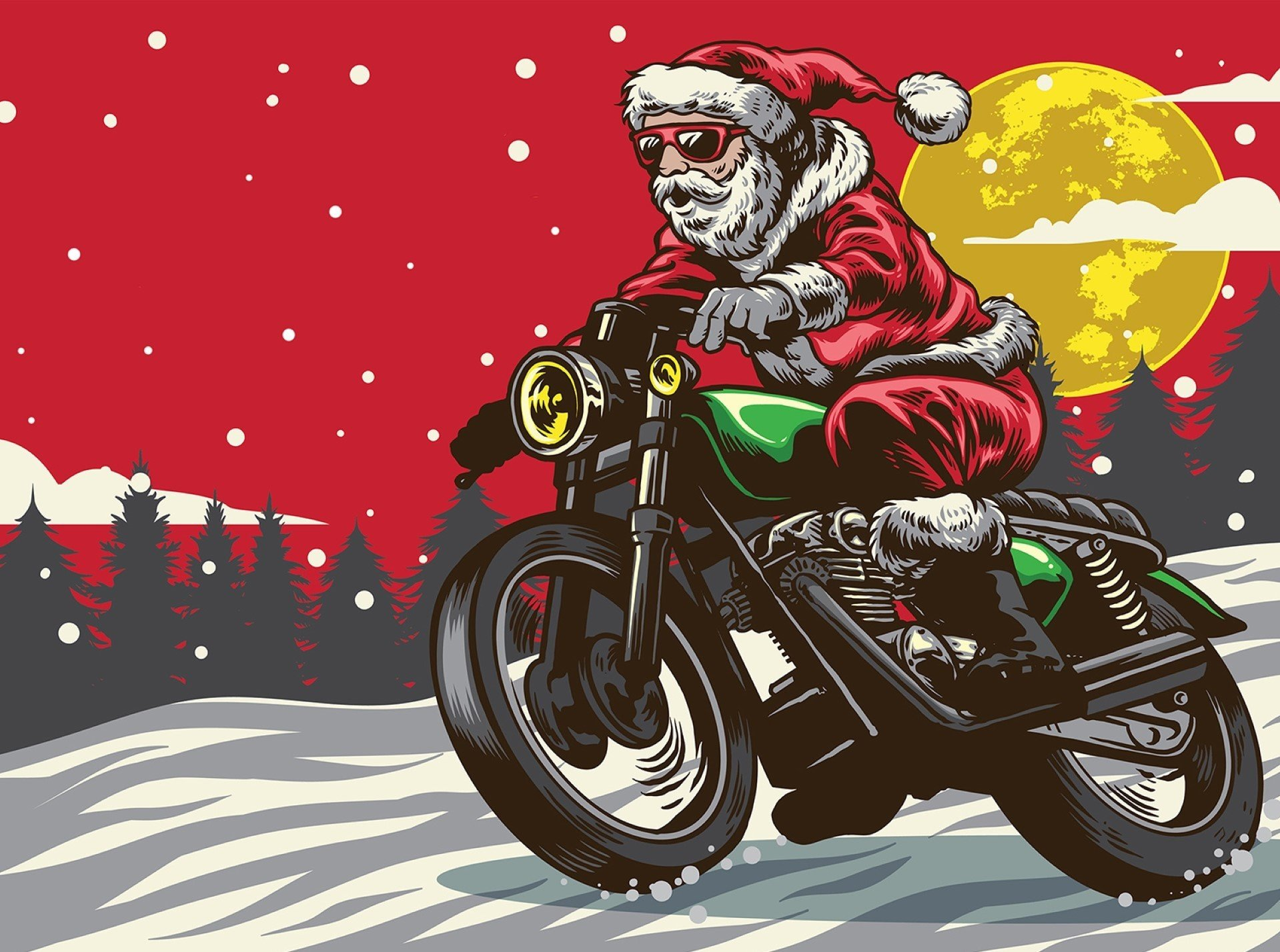 """Санта-Клаусы проехались по Токио на """"харлеях"""" (видео)"""