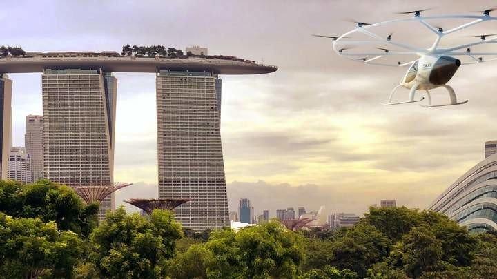 В Сингапуре продали первый полет на пассажирском коптере
