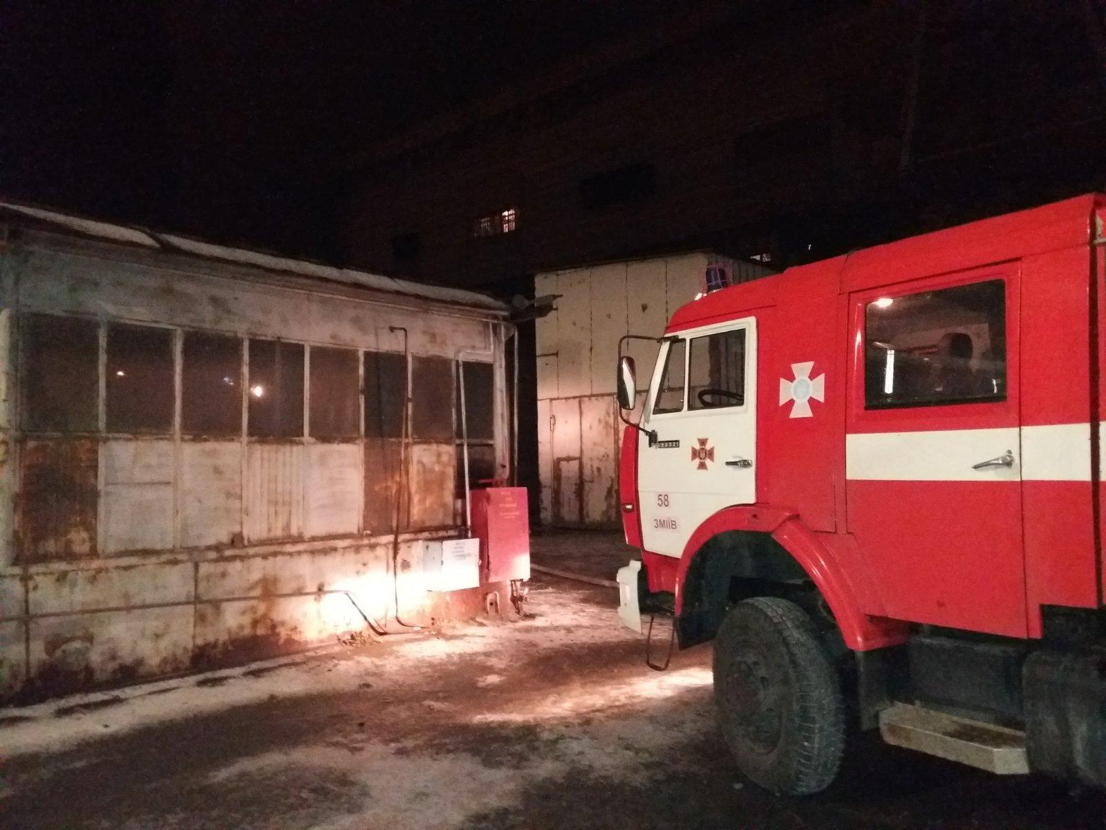 Под Харьковом семь часов тушили пожар на ТЭС