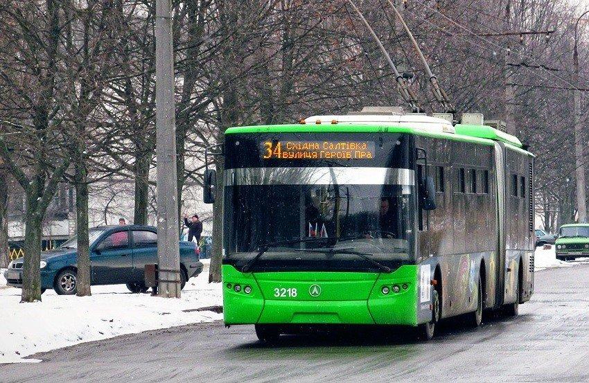 В Харькове из-за непогоды остановились троллейбусы